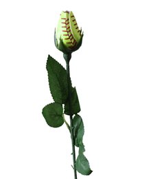 Wholesale The red yellow skin suture sewing roses flowers to congratulate you on your graduation with a real baseball