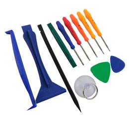Wholesale 12 in Opening Repair Tool Kit for iphone ipad Samsung Phone Screwdriver Spudger Disassemble Tools Set BEST