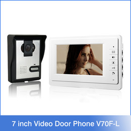 Wholesale Xinsilu inch TFT LCD Monitor Color Video Door Phone Intercom System IR Outdoor Camera Doorphone V70F L