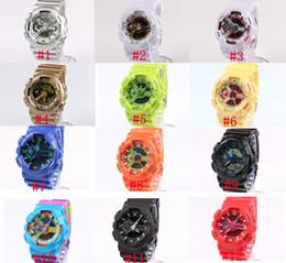 Wholesale 5pcs ga110 G Watch military camouflage watch digital watch Wristwatch watch Double movement LED watch Waterproof Wristwatches Wrist
