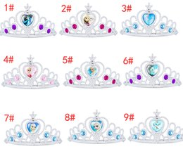 FROZEN Elsa Anna diamond crown COSPLAY party Wedding performance props Children girl cartoon crowns Tiaras charm jewelry colorful 9 Design