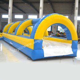 Wholesale AOQI water park equipment long inflatable water slide cheap super water slide for adult in summerl