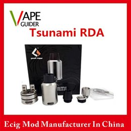 Wholesale Tsunami RDA Atomizer With Deck Adjustable Kennedy style Airflow Various Drip Tip Atomizer Vs Griffin and avocado atomizer
