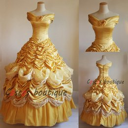 Wholesale Beauty and the Beast belle dress women adult princess Belle costume cosplay halloween party pancy dress