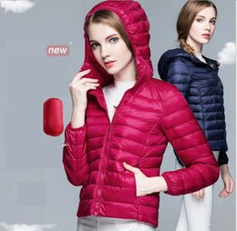 Women Down Coats Ultra-light Sport White Duck Down Jackets Plus Size Hooded Down Jacket Slim Thin Portable Outerwear Autumn Winter High Qual