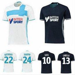 Wholesale NEW Olympique de Marseille soccer Jersey LASS home LUCAS SILVA OCAMPOS BATSHUAYI Olympique de Marseille soccer Jersey shirt