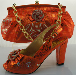 Wholesale 2016 Hot Selling Italian Shoes And Matching Bags Set With great Stones ME0019