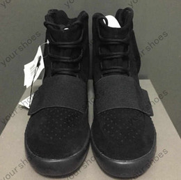 Wholesale New Men Women Boost Shoes Made By Kanye West Sneaker Limited Edition Superstar Black Gray Red With Origianl Box Free EMS Shipping