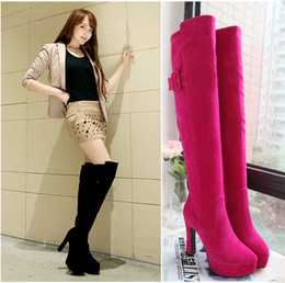 Wholesale Round head of new fund of autumn winters is thick with USES thigh high boots boots Japan and South Korea style