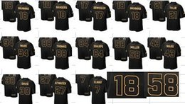 Wholesale Football Jerseys Super Bowl Brand Elte Football Jerseys Top Quality Discount Pro Line Gold Collection SUPER BOWL black Stitched Jerseys