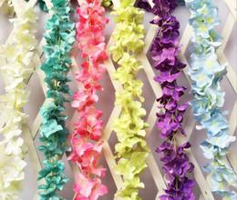 "10pcs 11.8"" Artificial Hydrangea Flower Ivy Garland Silk Vine Greenery For Wedding Home Decorative"