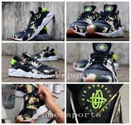 Wholesale 2016 New Air Huarache Shoes For Men Women Huaraches Running Shoes Sneaker GUCCIRACHE Kendra Thomas x AIR HUARACHE CUSTOM CAMO Size