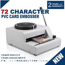 Wholesale 72 Character Manual Embosser Embossing Machine PVC ID Credit Card Stamping Machine Code Printer