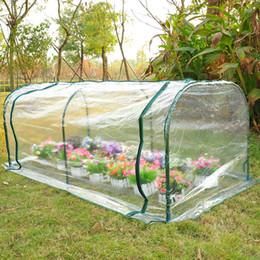 Wholesale 7 x3 x3 Greenhouse Mini Portable Gardening Flower Plants Yard Hot House Tunnel