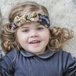 New Posh Girls Headband Glitter Bunny Ears Heaband ,Baby Hair Accessory With Sequins Big Bow, Rose floral Sequins Bow headband XMAS