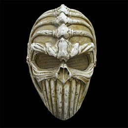 Wholesale Halloween Mask Masquerade for Adult Fashion High Quality Resin Alien Bone Devils Mask Game Cosplay Movie Prop Party Masks Ball Costume
