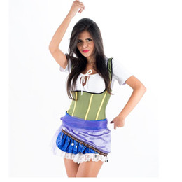 Wholesale Classic Movie Role Storybook Costume Sexy Fairy Tale Costumes for Women Fancy Dress Costumes For Adult Alice W208957B