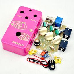 NEW DIY Tremolo PEDAL BOX@Build your Tremolo Face Pedal DIY box kit