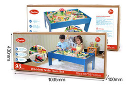 90 train tracks suit table. Scenario toy roller coaster game tables. High grade wood puzzle toys