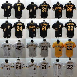 Wholesale Elite Men s Pittsburgh Pirates Andrew McCutchen Gerrit Cole Gregory Polanco Starling Marte Black Baseball Stitched Jerseys