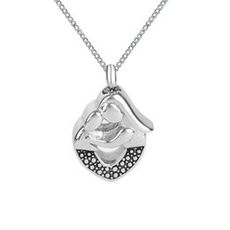 Wholesale Cremation Jewelry Mom Embrace Baby Urn Necklace Memorial Ash Keepsake Pendant With Gift Bag Funnel and Chain