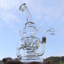 Ongles en verre pour l'huile en Ligne-Bong! FTK vortex parfait fab oeuf Recycler verre Verre concentré plateformes pétrolières Dabbers huile de verre QCB quartz banger clou 14mm joint