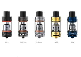 Wholesale Original Smok TFV8 Beast Tank Blue Gold Color ml Capacity TFV8 Baby Atomizer Fit for Alien Mod From Vapethink