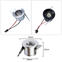 Wholesale Silver black body Mini led cabinet light w Mini led spot downlight AC85 V recessed display counter ceiling lamp