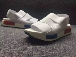 Wholesale Summer NMD White Sandals Falts Outdoor Casual Sandal Light and comfortable Shoes NMD Elastic belt