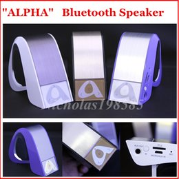 Wholesale ALPHA Creative Model Wireless Bluetooth Speaker Hands free Mic D Stereo Subwoofer Super Bass Sound Loud Speaker VS Pulse New Pill XL Pill