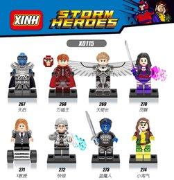 Wholesale X0115 Buliding Blocks Super Heroes Avengers Marvel X Men Apocalypse Minifigures Assemble Magneto Rogue Mystique Blocks Children Toys
