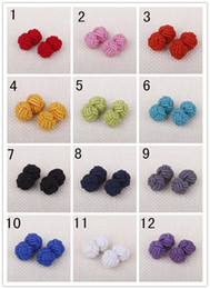Solid color Characteristic Rope Chinese Knot Button Fashion Men Shirt Cufflinks Weave Buckle Line XK01
