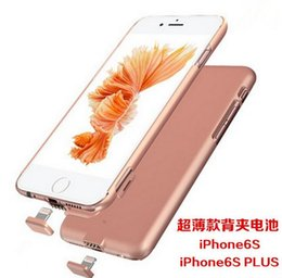 Wholesale Wireless charger Backup External Battery Charger Cases for iPhone s Plus Power Bank Cover thin case