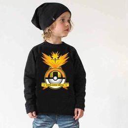 Wholesale Children Autumn Clothings New Fashion Kids Top Cartoon Poke Trinity Bird Cotton Long Sleeves Baby Boys T shirt
