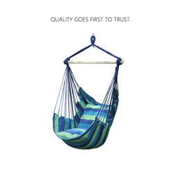 Wholesale Swinging hanging chair hammock rocking chair thick canvas hammock outdoor camping chair dormitory bedroom swing send tying pouch