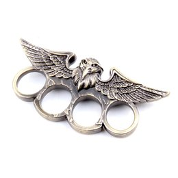 Wholesale 1 EAGLE HEAD THIN STEEL BRASS KNUCKLE DUSTERS NEW Top Quality Best Price