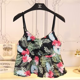 Promotion imprimé floral t-shirts femmes Grossiste-été 2016 de la mode féminine à faible coupe coupe-circuit imprimé floral camisole robe T-shirts belle femme petit réservoir débardeur