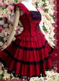 (LLT051) Lolita Dresses Short Sleeveless Sweet Lolita Short Dress Ball Gown Fancy Prom Dress Halloween Party Masquerade Costume