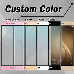 For Huawei P9 P9 plus screen 3D Protector Tempered Glass Full Cover Curved Side Explosion Proof