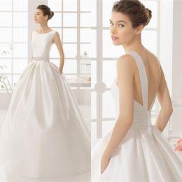 Wholesale Sexy Dress Ballgown - 2017 New Custom backless Covered Button Bride gowns fairy wedding dress satin princess ballgown high quality beadings wedding dress QW818