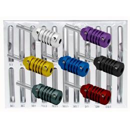 Free Shipping Set of 22 Stainless Steel Tattoo Tips + 7 Aluminum Tattoo Machine Gun grip tips supplies