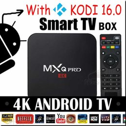 Wholesale MXQ Pro K Amlogic s905 android GB GB MXQpro Quad Core kodi fully loaded smart hdmi media player Support Iptv