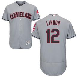 Clevland Indians Francisco Lindor Men's Game Cool Base Play Jersey Baseball Jerseys