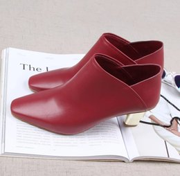 Women Genuine Leather Summer Boots Ankle Booties Two Ways Wearing Popular Summer Sandals Chunky Heels Soft Comfortable