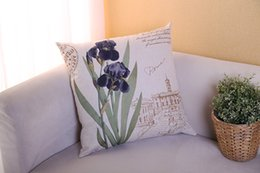 Roman Square Purple Flower Retro Classic Pillow Case Cover Massager Decorative Pillows Warm Nature Home Decor Elegant Gift