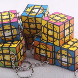 Wholesale Cheap Promotion Toys - Cheap 3*3*3CM Min Puzzle Magic Cube Keyring Mini Puzzle Keychain Intelligence toy for Men Women Fancy gift QK