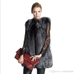 Desconto women s faux fur vest Moda 2017 Brasão nova Mulheres Winter Silver Fox Fur Vest Faux Fur Mulher casaco de pele Coletes Jacket Mulher Overcoat Tamanho S-4XL
