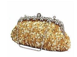 Women's handbags retro sequined wedding bag bride bag small hand bag Clutch Wallet bag handbag dumplings package