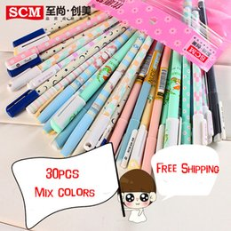 Wholesale SCM Korea Creative Stationery ballpoint rollerball pen ball point Water based Pen Gel Pens School Company Supplies