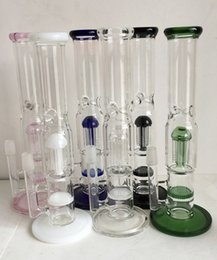 Wholesale Filters and Honeycomb Bong Hit Inches Six Arm Glass Pipe Fine Workmanship Packages Mailed Oil Rigs